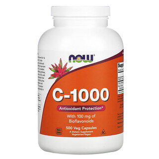 Now Foods, C-1000, 500capsules végétales