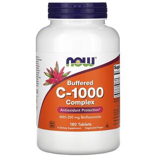Now Foods, مركب فيتامين جـ-1000 المخفف، 180 قرصًا