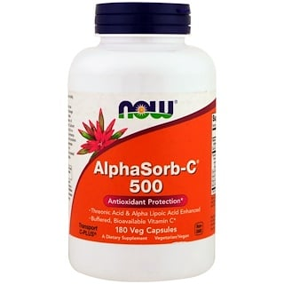 Now Foods, AlphaSorb-C 500, 180 Veggie Caps