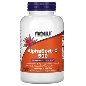 Now Foods, AlphaSorb-C 500, 180 Veg Capsules отзывы