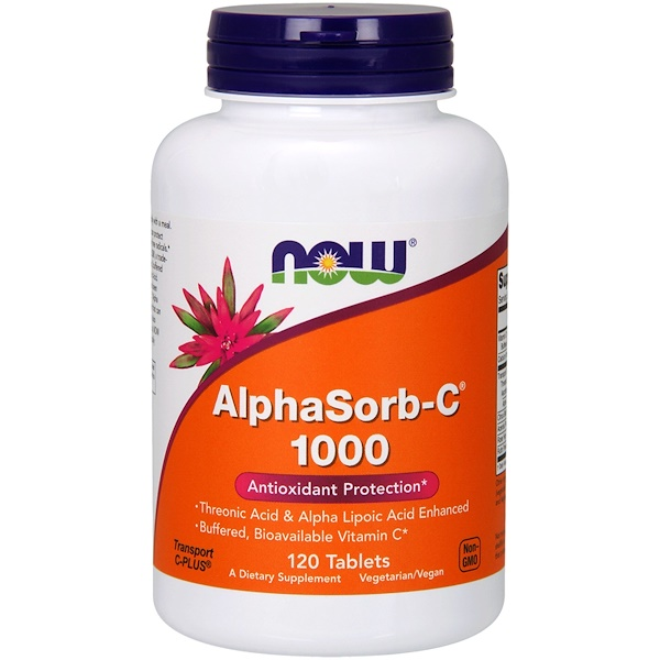 Now Foods, AlphaSorb-C 1000, 120 Tablets (Discontinued Item)