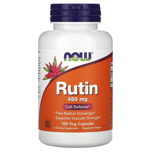 Now Foods, Rutin, 450 mg, 100 Veg Capsules