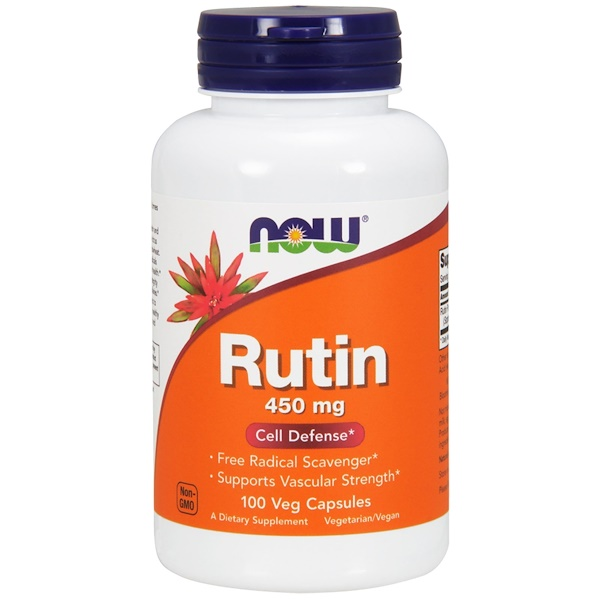 Now Foods, Rutina, 450 mg, 100 Cápsulas Vegetarianas