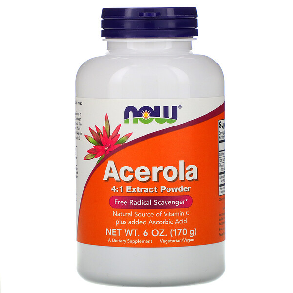 Now Foods, Acerola 4:1 Extrakt Pulver, 6 oz (170 g)