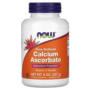 Now Foods, Reines, gepuffertes Calciumascorbat, VitaminC-Pulver, 227g (8oz.)