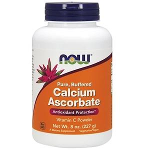 Now Foods, Чистый, буферный аскорбат кальция, порошок витамина C, 8 унций (227 г)