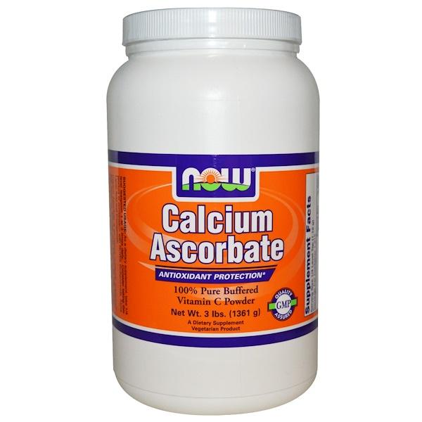 Now Foods, Calcium Ascorbate, 3 lbs (1361 g) (Discontinued Item)