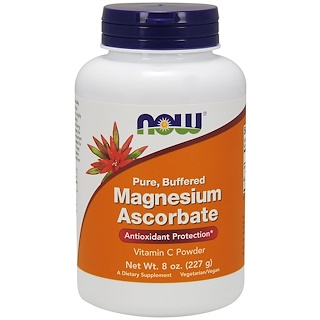 Now Foods, Pure, Buffered, Magnesium Ascorbate, 8 oz (227 g)