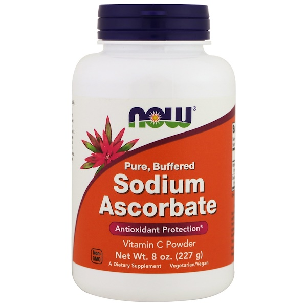 Now Foods, Ascorbate de sodium, Poudre, 8 oz (227 g)
