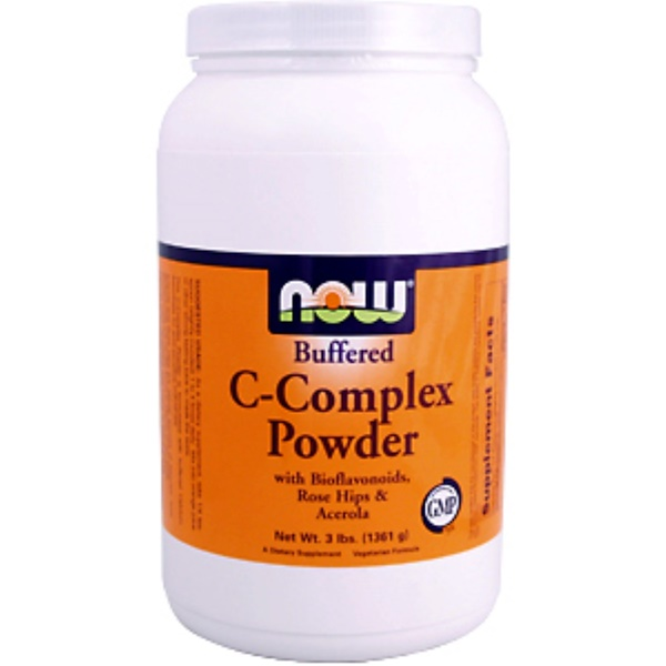 Now Foods, C-Complex Powder, Buffered, 3 lbs (1361 g) (Discontinued Item)