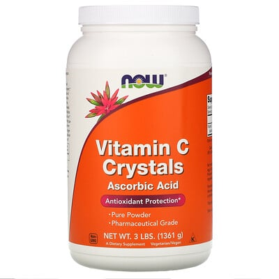 Now Foods Витамин C в кристаллах, 3 фунта (1361 г)