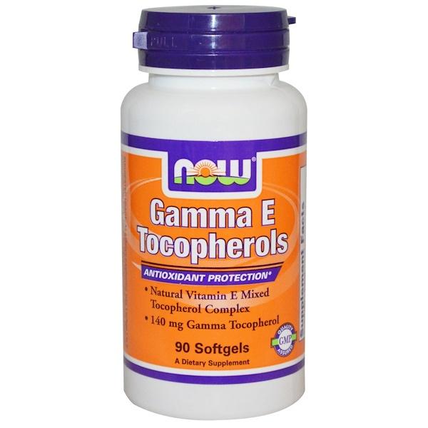 Now Foods, Gamma E Tocopherols, 90 Softgels (Discontinued Item)