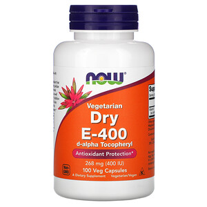 Now Foods, Vegetarian Dry E-400, 268 mg (400 IU), 100 Veg Capsules отзывы
