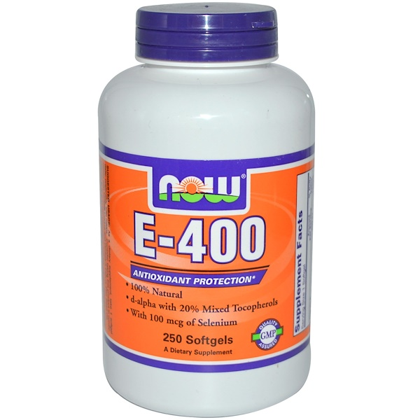 Now Foods, E-400, 250 Softgels (Discontinued Item)