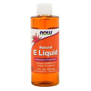 Now Foods, Natural E Liquid, 4 fl oz (120 ml) отзывы