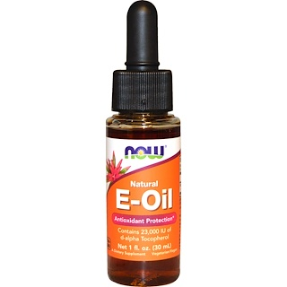 Now Foods, Natural E-Oil, Antioxidant Protection, 1 fl oz (30 ml)