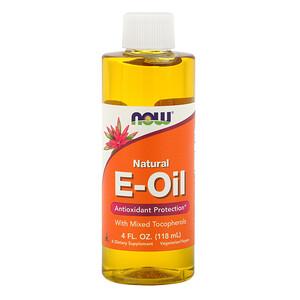 Now Foods, Natural E-Oil, Antioxidant Protection, 4 fl oz (118 ml) отзывы