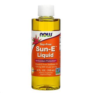 Now Foods, Sun-E Liquid, Vitamin E, 118ml (4fl.oz.)