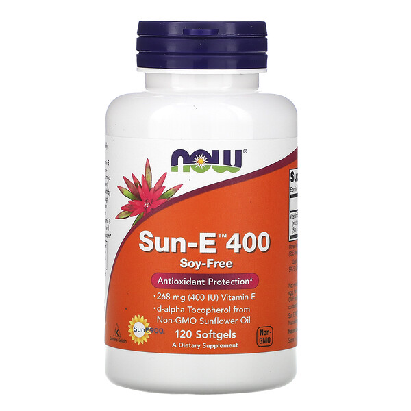 Now Foods, Sun-E 400, 120 Pastillas Blandas de Gel