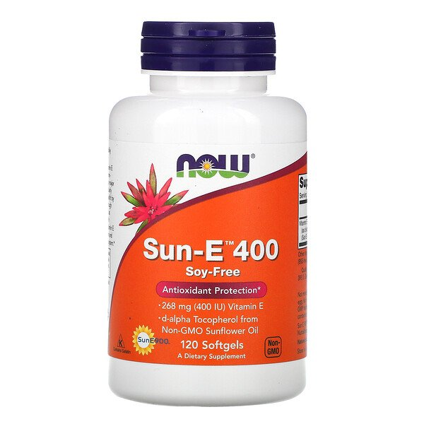 Now Foods, Sun-E 400, 120 gélules souples