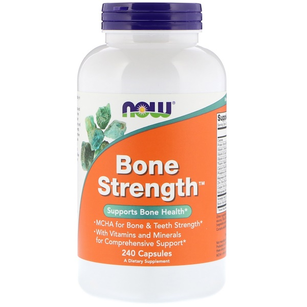 Now Foods, Bone Strength™, Ossos fortes, 240 Cápsulas