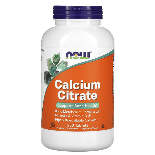 Calcium Citrate, 250 Tablets