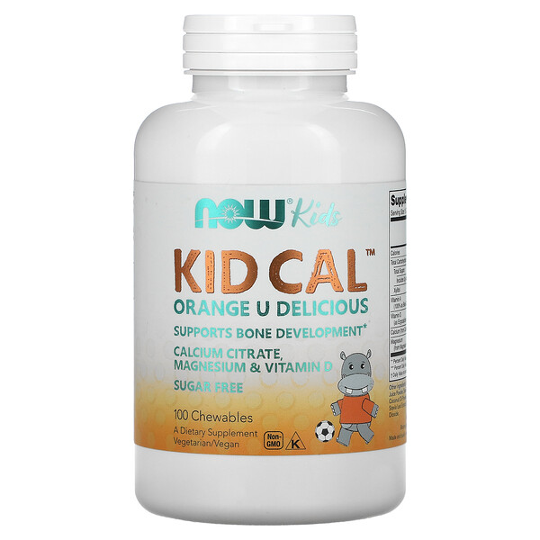 Now Foods, Kid Cal, 100 Chewables