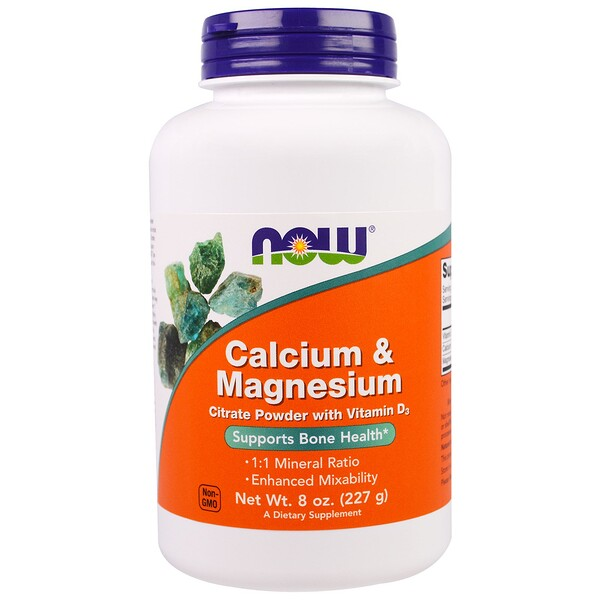 Now Foods, Calcium & Magnesium, 8 oz (227 g)