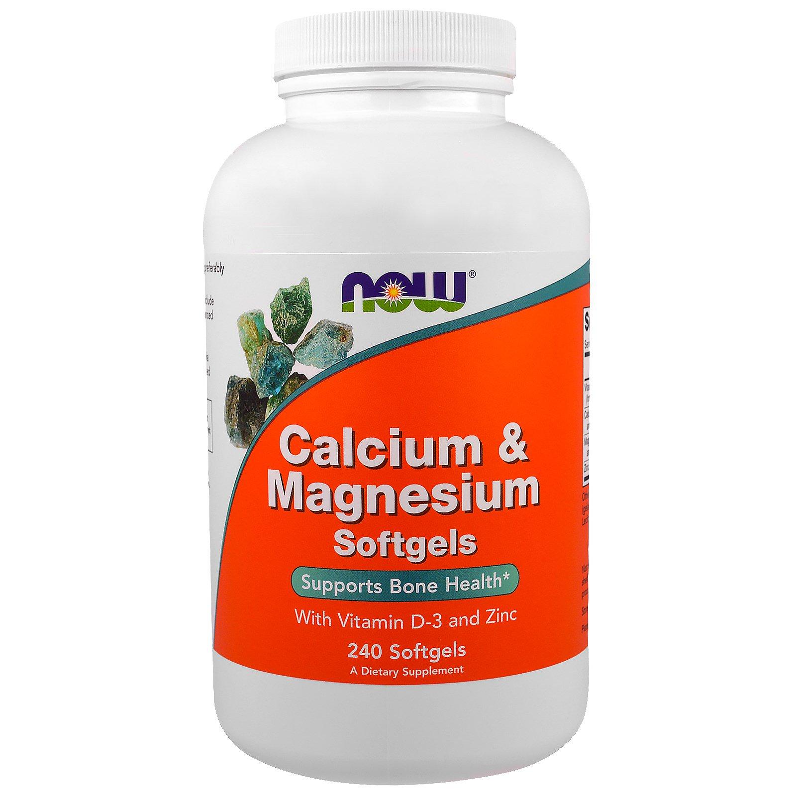 Now Foods, Комплекс кальция и магния, 240 гелевых капсул