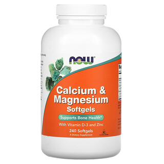 Now Foods, Calcium & Magnesium with Vitamin D-3 and Zinc, Calcium und Magnesium mit VitaminD3 und Zink, 240Weichkapseln