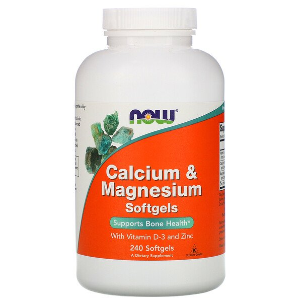 Calcium & Magnesium, with Vitamin D-3 and Zinc, 240 Softgels