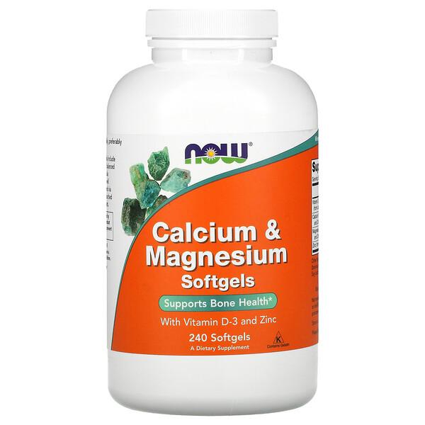 Calcio y magnesio con vitaminaD3 y zinc, 240cápsulas blandas