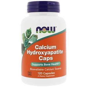 Now Foods, Calcium Hydroxyapatite Caps, 120 капсул