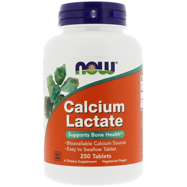 Now Foods, Calcium Lactate, 250 Tablets