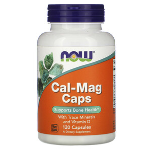 Now Foods, Cal-Mag Caps with Trace Minerals and Vitamin D, 120 Capsules отзывы покупателей
