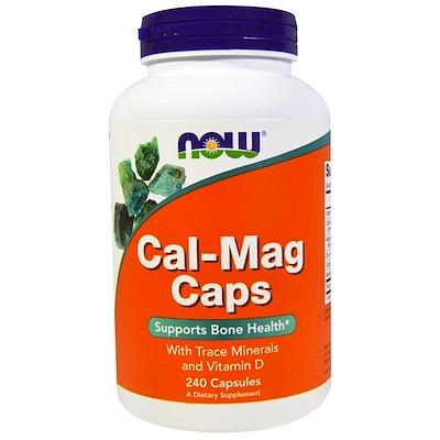 Капсулы с кальцием и магнием, 240 капсул now foods diet support поддержка диеты капсулы 120 шт
