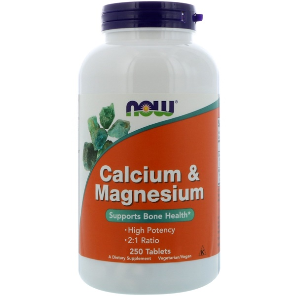 Now Foods, Kalzium & Magnesium, 250 Tabletten