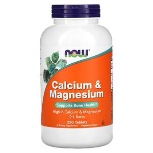 Now Foods, Calcium & Magnesium, 250 Tablets отзывы покупателей