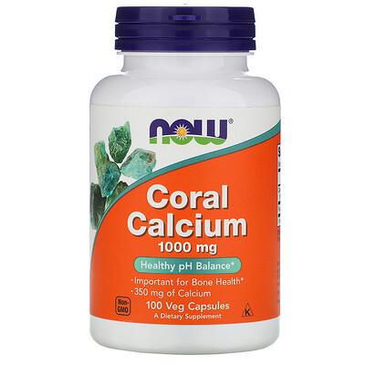 Now Foods Кальций из кораллов, 1000 мг, 100 растительных капсул