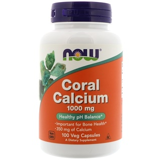 Now Foods, Coral Calcium, 1,000 mg, 100 Veg Capsules