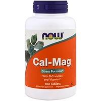 Комплекс кальция и магния, Средство для избавления от стресса, 100 таблеток - фото