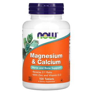 Now Foods, Magnesium & Calcium, 100 Tablets отзывы покупателей