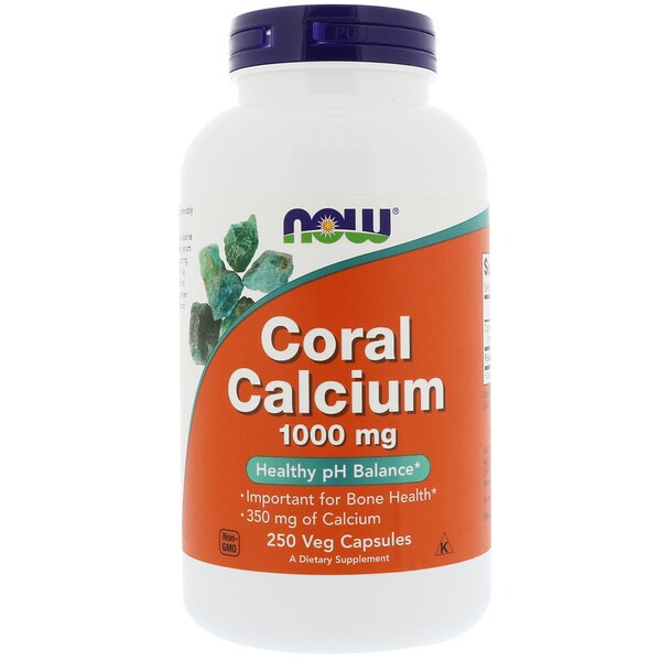 Now Foods, Calcio coral 1,000 mg, 250 cápsulas vegetarianas