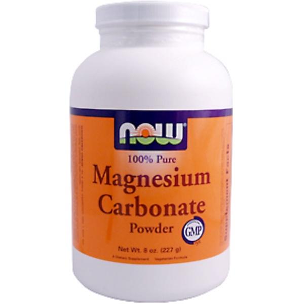 Now Foods, Magnesium Carbonate Powder, 8 oz (227 g) (Discontinued Item)