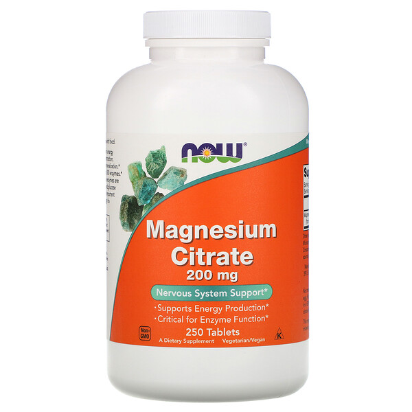 Magnesium Citrate, 200 mg, 250 Tablets