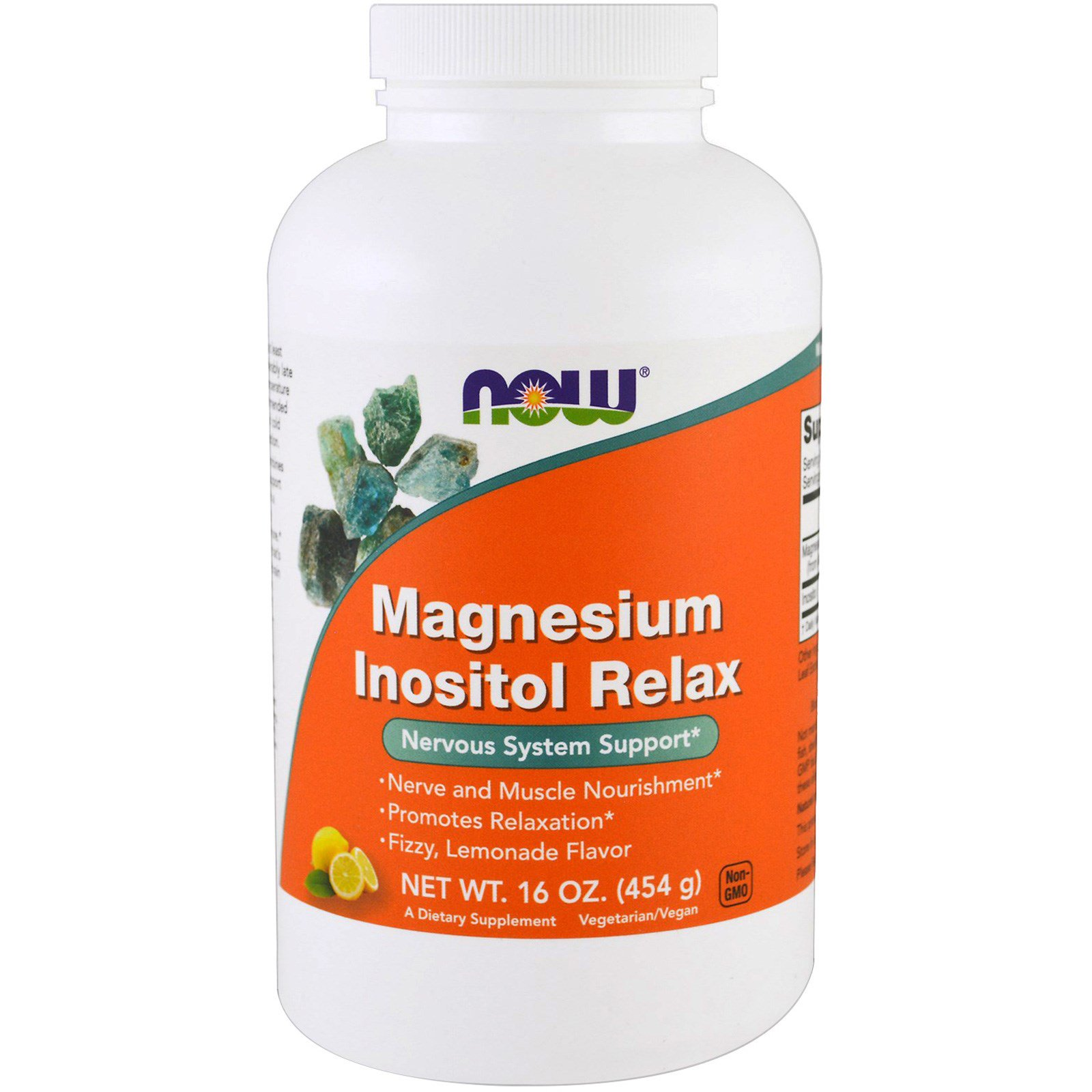 Now Foods, Магний расслабляющий инозитол, лимонад, 454 г (16 унций)
