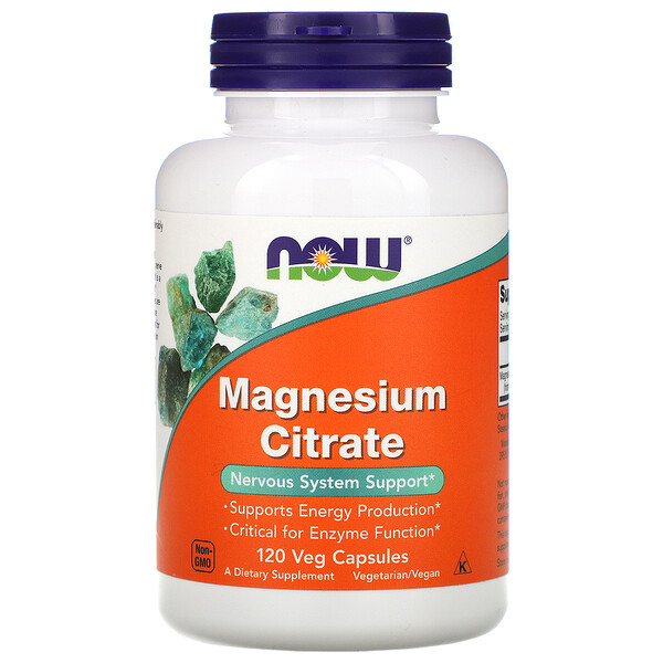 Citrate de magnésium, 120 capsules végétariennes