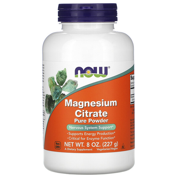Now Foods, Magnesium Citrate Pure Powder, 8 oz (227 g)