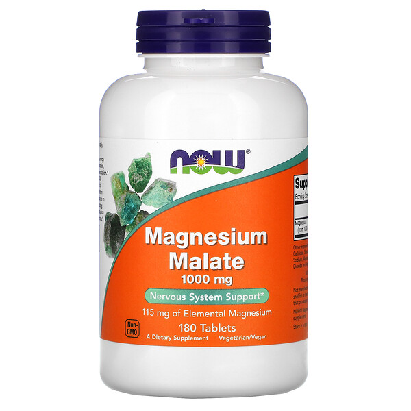Magnesium Malate, 1,000 mg, 180 Tablets