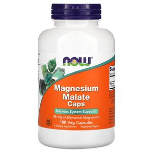 Now Foods, Magnesium Malate Caps, 180 Veg Capsules отзывы покупателей